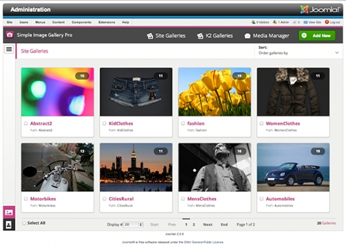 JW Simple Image Gallery PRO(v3.0.4 Joomla 3.2 & 2.5)