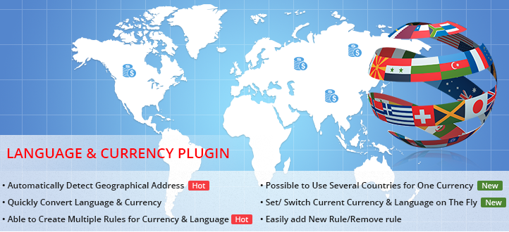 Currency Language Automatic Switcher Plugin for VirtueMart