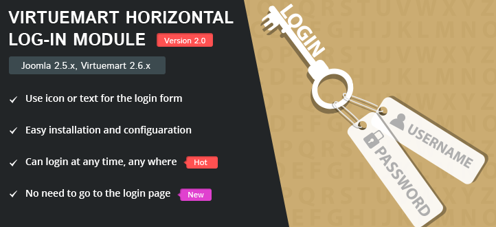 virtuemart-horizontal-log-in-module